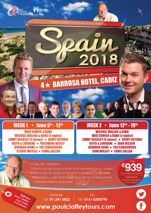 Paul Claffey Tours - Spain 2018
