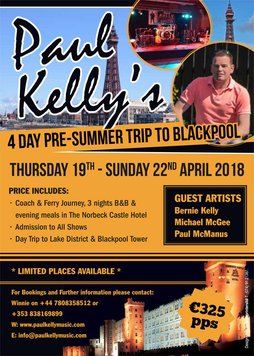 Paul Kelly Blackpool Summer Trip