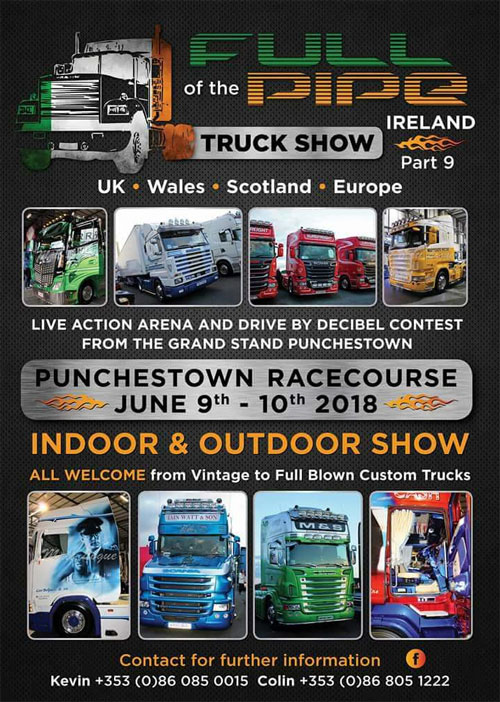 Full Of The Pipe Truck Show Ireland